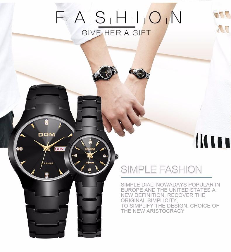 609916874a4 DOM luxo top marca men    s assista tungsten aço relógio de pulso à prova d   água de negócios relógio de quartzo moda casual watch w698-2. 698.2 01  698.2 02 ...