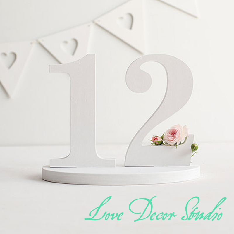 white letters wedding table numbers numbers custom colors rusticnumber party decorations country decor whitechina - Cheap Country Decor