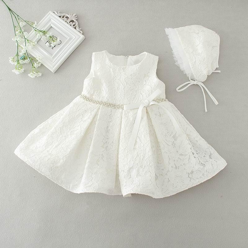 Retail Newborn Baby Girls Princess Dress Lace First Birthday Wedding Party Dress Toddler Baby Girl Dresses