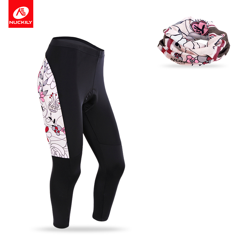 Nuckily Spring/Autumn Ladies Cycling Pants Breathable Padded women Road Bike Pants Bicycle Clothing CK127+PG74 women s cycling shorts cycling mountain bike cycling equipment female spring autumn breathable wicking silicone skirt