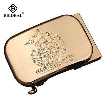 BIGDEAL Mens Solid Brass Automatic Buckle for Mens Leather Belt Waistband Accessory 3.5CM