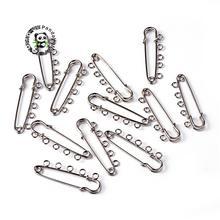 200pcs 5 holes 16x50mm Iron Metal Kilt Pins Bijoux Garment Brooch Accessriess Jewelry Making DIY Finding
