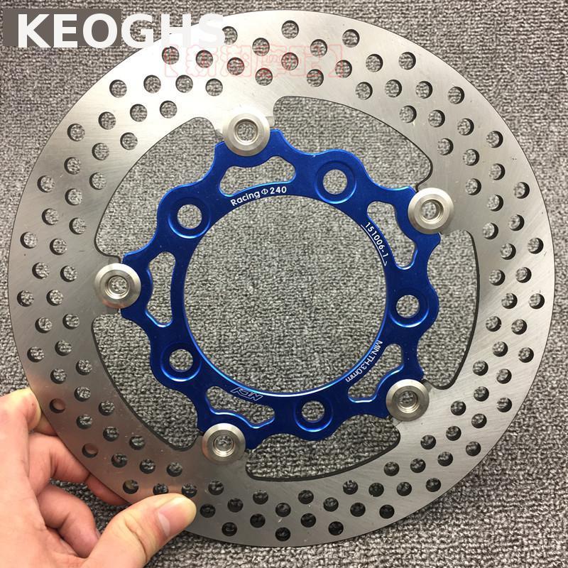 Disque de frein flottant avant moto KEOGHS Ncy 240mm pour Scooter G5 G6 Kcc150Disque de frein flottant avant moto KEOGHS Ncy 240mm pour Scooter G5 G6 Kcc150