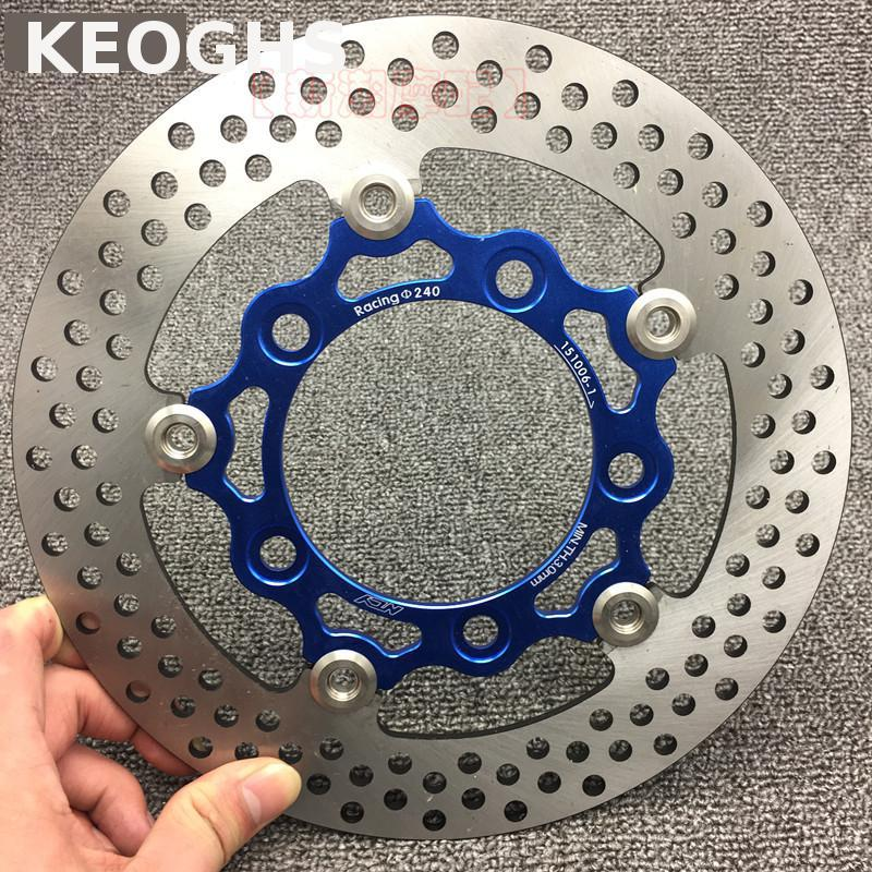 цены  KEOGHS Ncy Motorcycle Front Floating Brake Disc 240mm For Scooter G5 G6 Kcc150