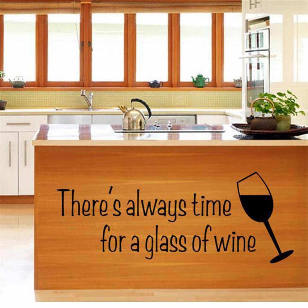 Home decoration wall stickers wine glass personalized kitchen stickers living room bedroom background wall stickers Z325