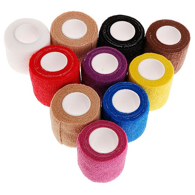 10Pcs 5cm Disposable Tattoo Self-adhesive Elastic Grip Bandage Wrap Sport Tape Body Art Tattoo Accesories 2