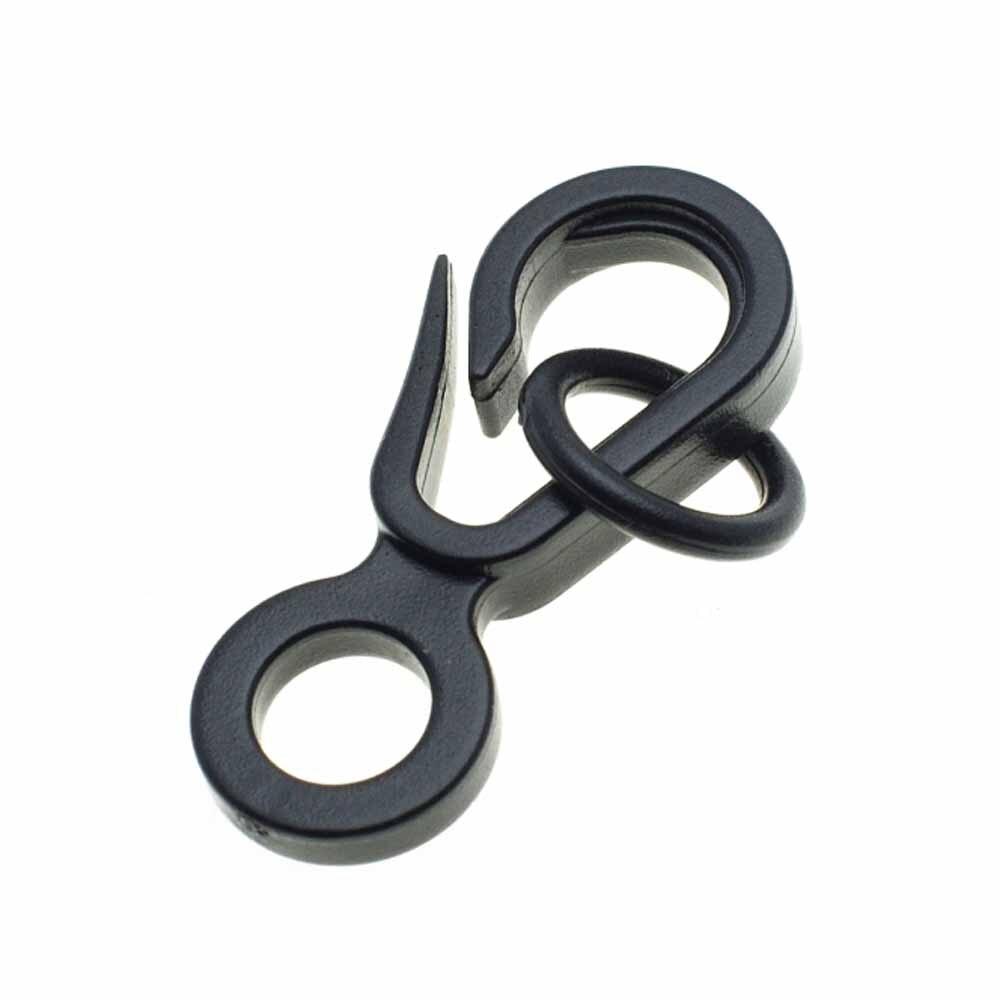 1000 pcs/pack mousqueton en plastique noir avec joint torique pour sac ceintures sangles fermoir sac à dos accessoires de vêtement