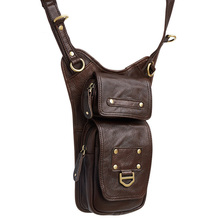 Genuine Leather Mens Sling Bag Single Shoulder Men Chest Pack Messenger Crossbody for Man