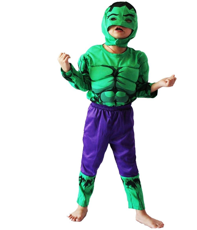 Хэллоуин партиясының костюмдері Балалар The Hulk (комикс) бұлшық ет үлгісі киімі, бала Рөлді киетін киім, ұзын жейде футболка мөлшері: 5 # -13 #