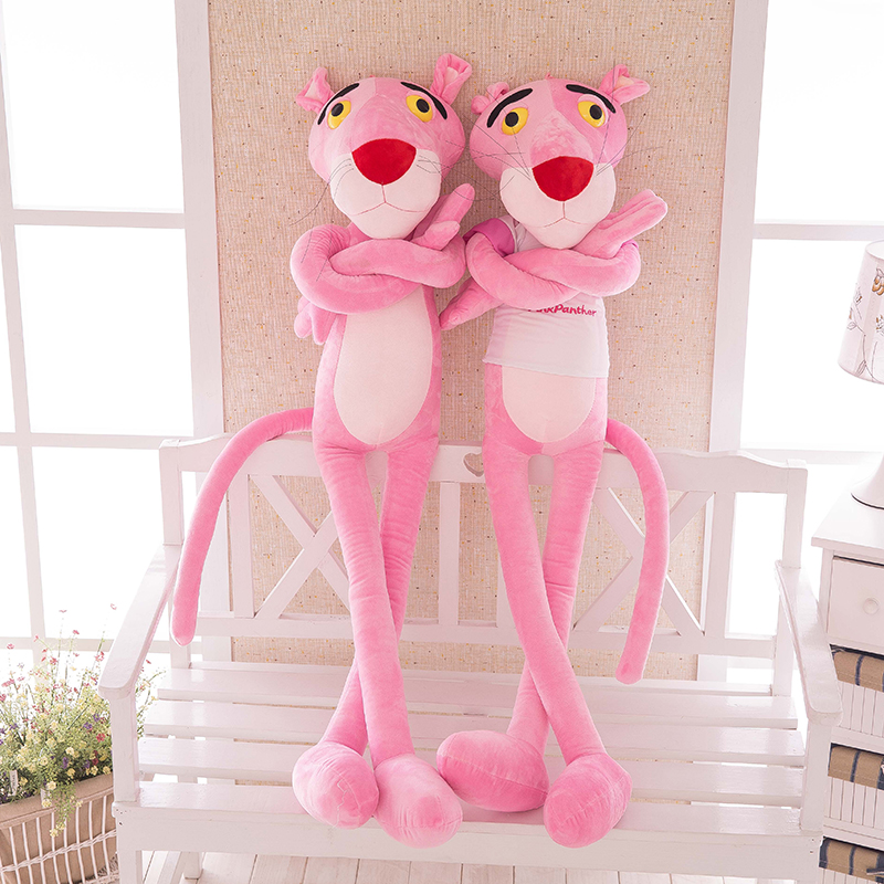 Cartoon 40cm Large Plush Pink Panther Toy Kids Sleeping Back Cushion stuffed Pillow Elephant Doll Baby Doll Birthday Gift large watermelon style plush toy pillow doll home cushion birthday day gift