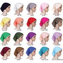 Mercerized cotton muslim hijab Fashion Inner Hijabs scarf indian turban