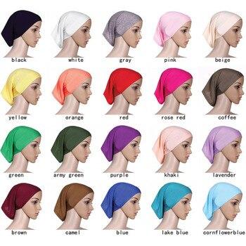 Mercerized cotton muslim hijab Fashion Inner Hijabs muslim scarf indian turban
