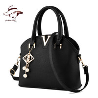 2016 Famous Brand Women Bag Woman Leather Handbag Messenger Bags Crocodile Shell Shoulder Bag Brand Pendant