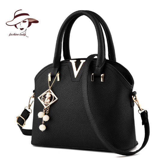 2018 New Luxury V Metal Women Bag Pendant Girls Handbag Designer Ladies  Hand Bag Purse Bolsas Messenger Shoulder Bag Leather Bag-in Top-Handle Bags  from ... 25b8f7c610d1e