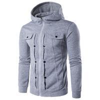Men S Autumn Winter Fashion Men Slim Designed Hooded Top Cardigan Coat Jacket