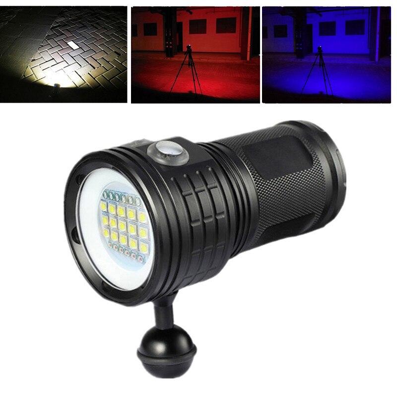 Scuba Diving Underwater 80M XM-L2 LED Video Camera Photography Light LampScuba Diving Underwater 80M XM-L2 LED Video Camera Photography Light Lamp