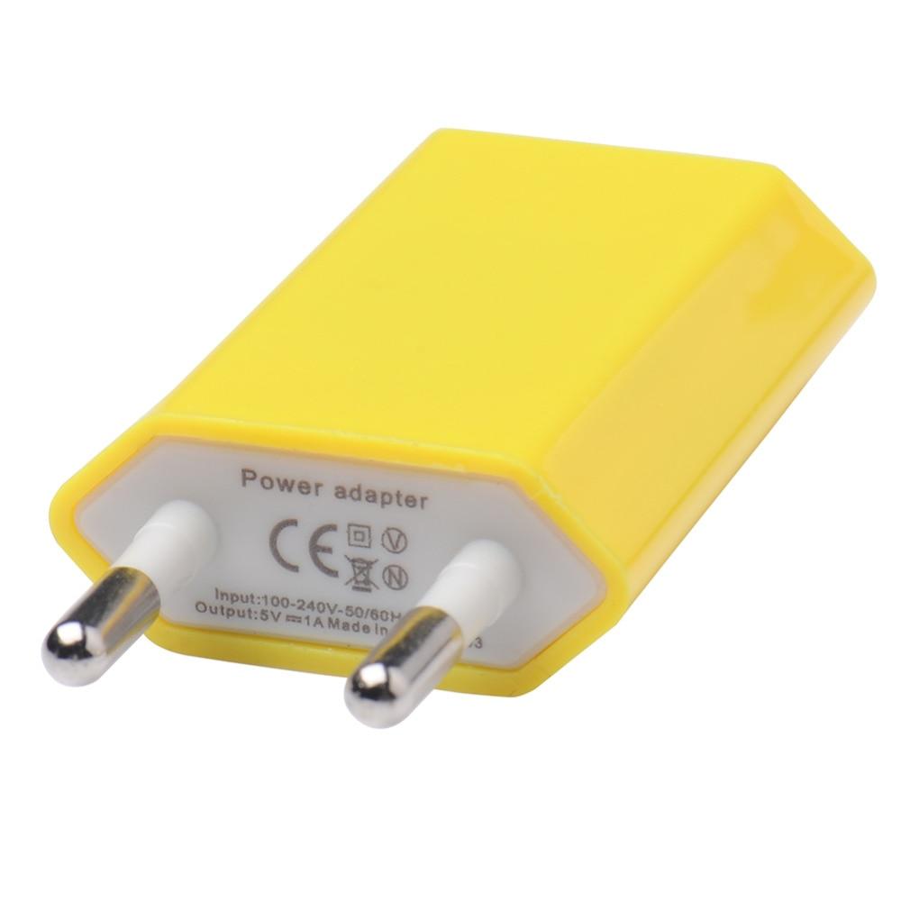 Mbledhës shumëngjyrësh EU Plug USB i telefonit, 5V 1A AC110V-240V - Aksesorë dhe pjesë të telefonit celular - Foto 5