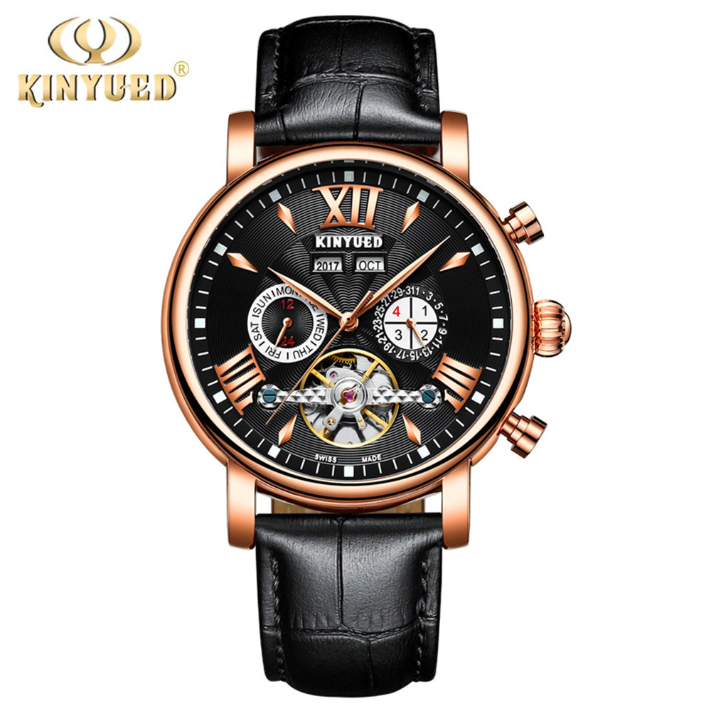 Automatic Mechanical Watch Men Tourbillon Perpetual Calendar Skeleton Mens Watches Top Brand Luxury Rose Gold Business Relogio business men double tourbillon mechanical watches luxury brand male calendar waterproof watch automatic self wind wristwatch