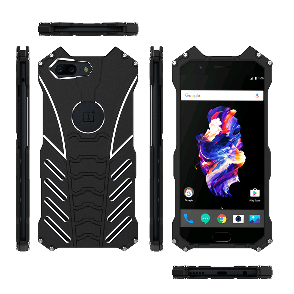 Image 2 - R JUST for Oneplus 5T 6T BATMAN Doom Heavy Duty Armor Metal Aluminum Mobile Phone Cases For Oneplus5 Oneplus7 6T Shockproof Case-in Fitted Cases from Cellphones & Telecommunications