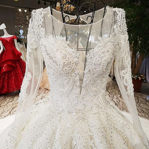 Image 3 - AIJINGYU Sheer Wedding Dress Informal Bridal Gowns Coutures Sew engagement With Jewels For Sale Luxury Wedding Dresses Near Me
