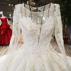 Image 3 - Aijingyu Sheer Trouwjurk Informele Bruidsjurken Coutures Naaien Engagement Met Juwelen Voor Koop Luxe Trouwjurken Buurt Me