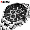 CURREN Quartz Men Watches Top Brand Luxury Men Military Wrist Watches Full Steel Men Sports Watch