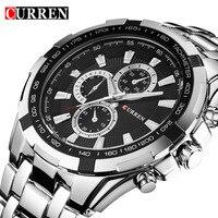 CURREN Quartz Men Watches Top Brand Luxury Men Military Wrist Watches Full Steel Men Sports Watch