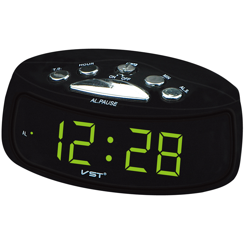 big numbers digital clock 0 9 39 39 inches large display clock eu plug ac power alarm clocks. Black Bedroom Furniture Sets. Home Design Ideas