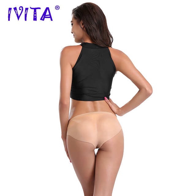 IVITA 580g Realistic Silicone Vagina Transgender Silicon Buttocks Enhancement Fake Vagina For Crossdresser Panties For Shemale