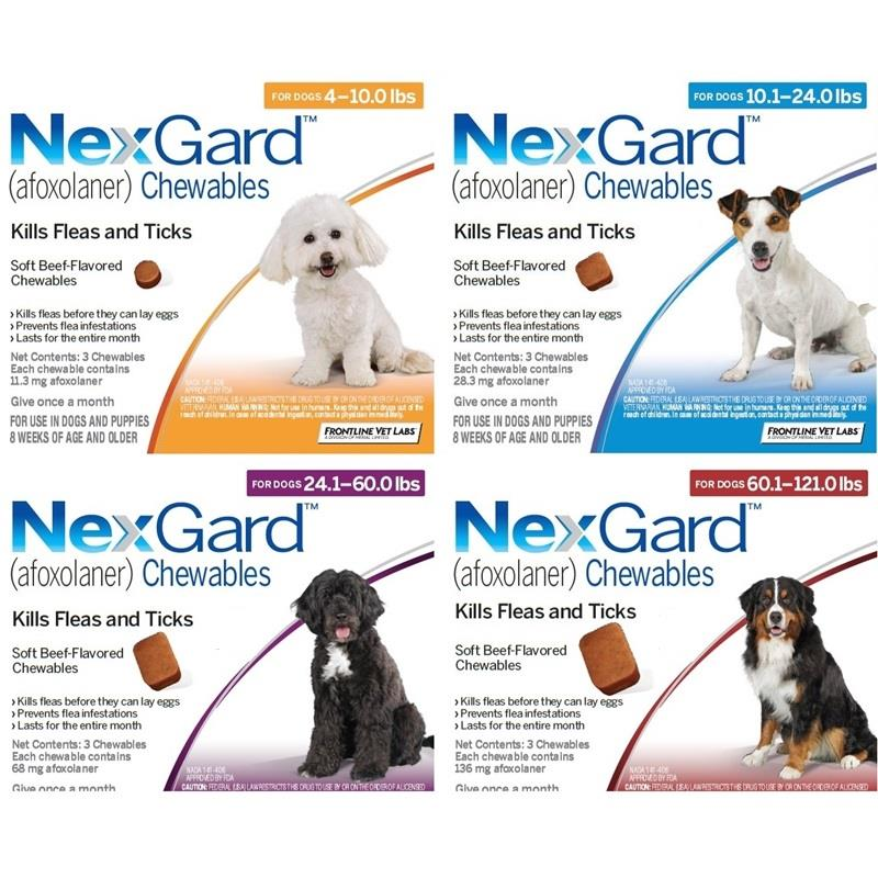 NexGard Chewable Tablets for Dogs Flea Tick Oral Treatments