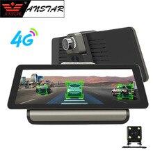 """ANSTAR 4g Wifi 10 """"Auto DVR della Macchina Fotografica del Android 5.1 GPS di Navigazione ADAS Monitor Remoto Dual Len Dash Cam con Videocamera vista posteriore DVR"""