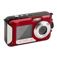 New 2 7inch TFT Digital Camera Waterproof 24MP MAX 1080P Double Screen 16x Digital Zoom Camcorder