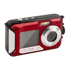 2.7 inch TFT Digital Camera Waterproof 24MP MAX 1080P Double Screen 16x Digital Zoom Camcorder Built-in loudspeaker Micphone