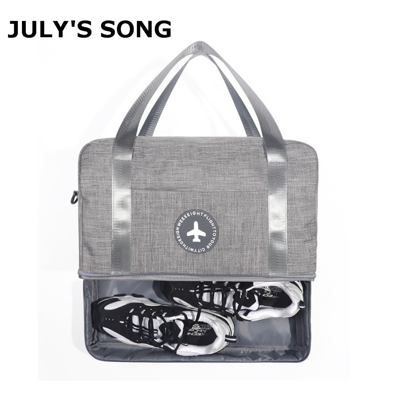 JULY'S SONG Oxford Dry Wet Separation Travel Organizer Luggage Handbag Large Capacity Duffle Swimming Bag With Shoulder Strap