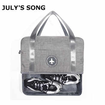 JULY'S SONG Oxford Dry Wet Separation Travel Organizer Luggage Handbag Large Capacity Duffle Swimming Bag With Shoulder Strap - DISCOUNT ITEM  30% OFF All Category