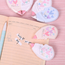 2PCS/Pair Cute Kawaii Love Heart Mini Small Correction Tape Stationery Novelty Office Kids School Supplies