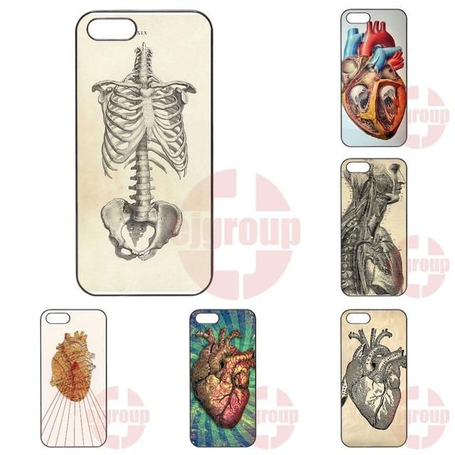 Hard Skin Phone Vintage Medical Anatomical Heart Diagram For Apple