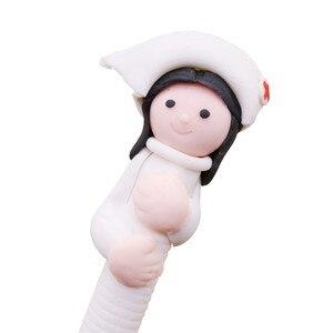 Image 2 - 40 قطعة/الوحدة لطيف الإبداعية القرطاسية بالجملة لطيف طبيب ممرضة بوليمر كالي الكرة القلم شخصية قلم حبر جاف بنك الاستثمار القومي 0.5 مللي متر ممرضة القلم