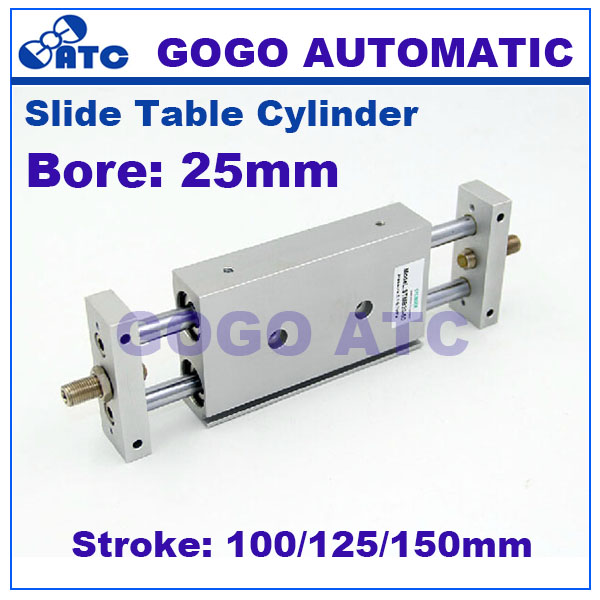 GOGO High quality double acting dual rod air actuator STMB bore 25mm stroke 100 125 150