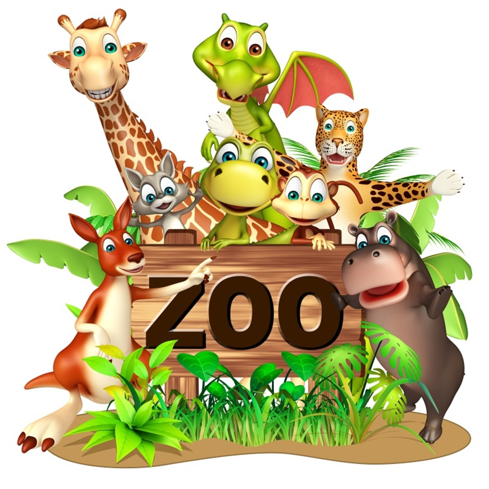 Laeacco Cartoon Animal Zoo Jungle Party Baby Children Photography Backgrounds Customized Photographic Backdrops For Photo Studio