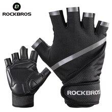 ROCKBROS Gym Gloves Powerlifting Weight Training Biking Cycling Bodybuilding Sport Gloves Fitness Workout Gloves For Men Women