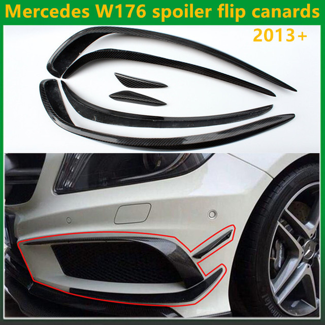 Carbon Fiber Mercedes W176 Spoiler Flip Canards For Benz A