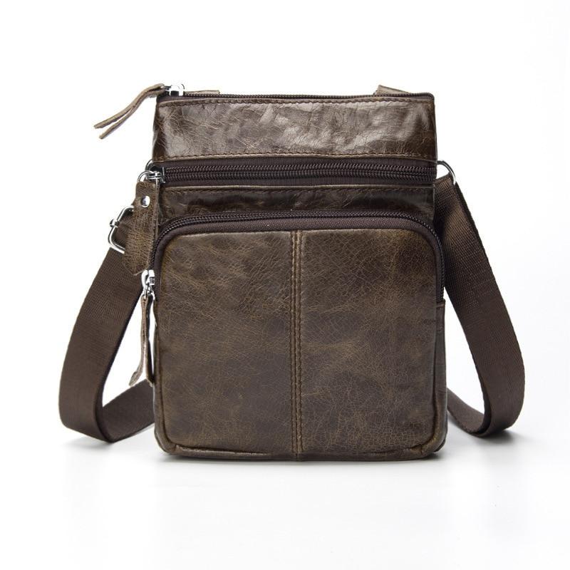 HTB1MJo XdzvK1RkSnfoq6zMwVXaV Messenger Bag Men's Shoulder Genuine Leather bags Flap Small male man Crossbody bags for men natural Leather bag
