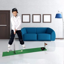 Indoor Outdoor Plastic Golf Practice Set Fun Golf Tranning Aids Set Interactive Sports Game Educational Toys Best Gift For Kids