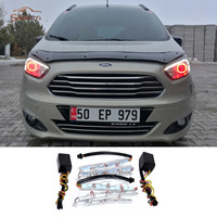 2Pcs Lot White Yellow Flexible Daytime Lamp Switchback Strip DRL For Ford Focus 2 3 Toyota
