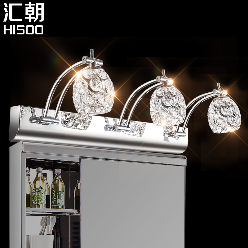 ФОТО Modern led mirror cabinet lamp 9W/E14/ three lights bathroom mirror light waterproof mirror light cabinet  lamp
