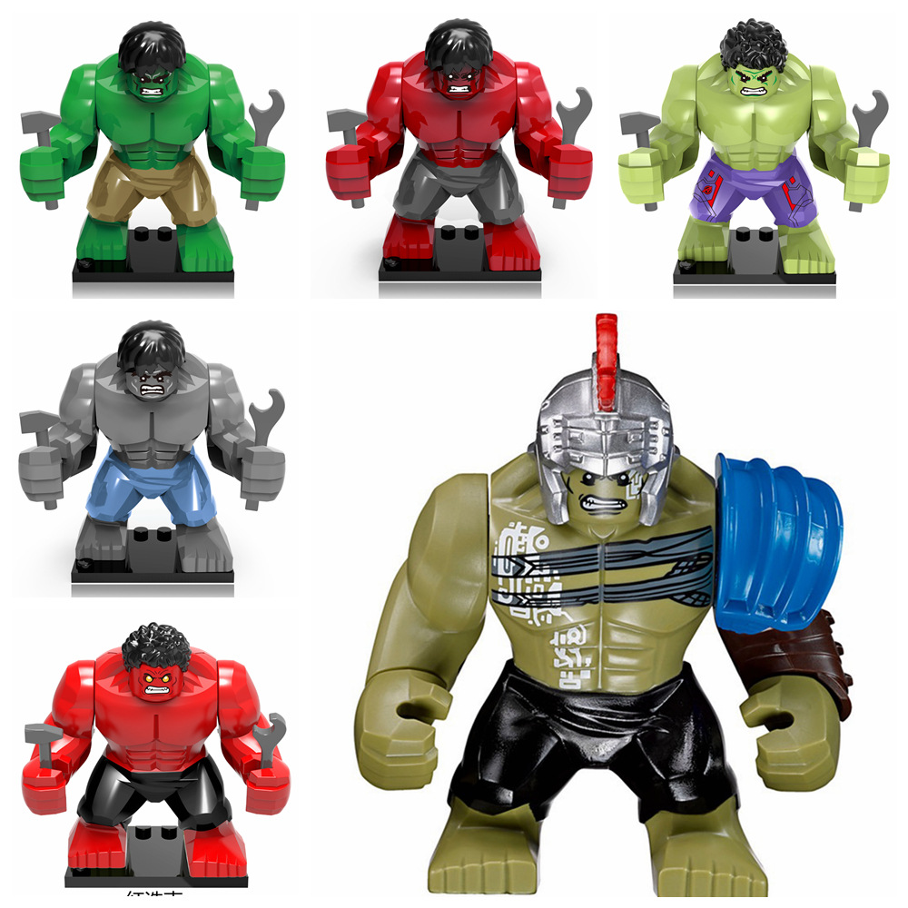 Marvel Hero Hulk Ninja Crocodile Man LEGOINGLYS Building Blocks Mini Bricks Children Toys