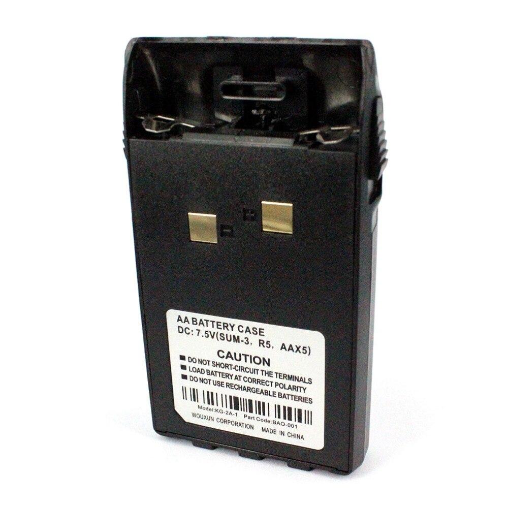 imágenes para Oppxun 5 * aa de la batería del caso de shell para wouxun kg-uvd1p kg-uv6d kg-669 plus walkie talkie cb radio portable