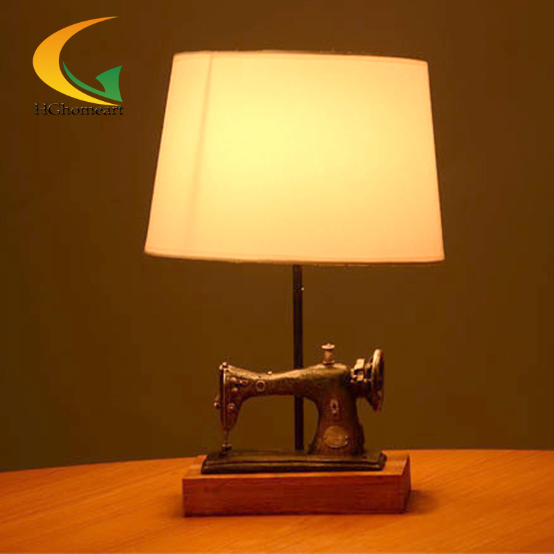 High Quality American Country Retro Sewing Machine Creative Personality Desk Lamp Table  Lamp Decorated Bar Restaurant