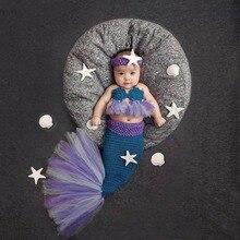 Puseky 0-4 м вязаная, для младенцев одеяло «хвост русалки» костюм дизайн с изображением животных; Одежда для новорожденных; одежда для малышей с принтом трансформера-фон для фотосъемки аксессуары для фотостудии